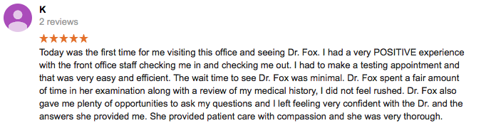 Dr Fox Review - 5 Stars