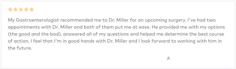 Dr Miller Review - 5 Stars